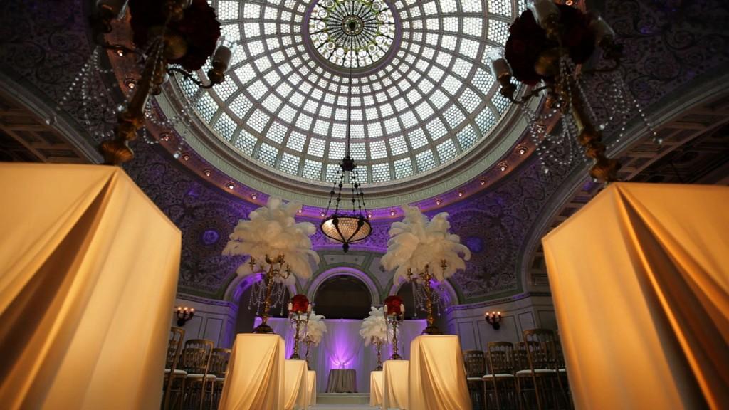 Chicago Cultural Center Wedding Room Design Tiffany Dome Yanni Design Studio