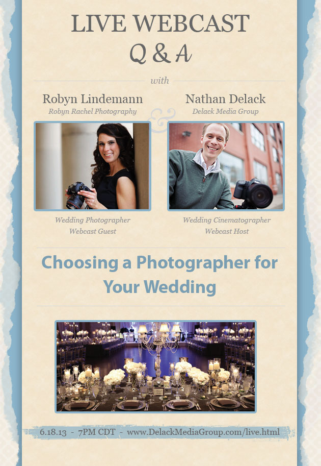How to Hire a Wedding Photographer Webcast with Robyn Lindemann of Robyn Rachel Photography