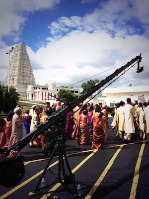 Camera Crane at a Chicago Indian Wedding at Lemont Hindu Temple