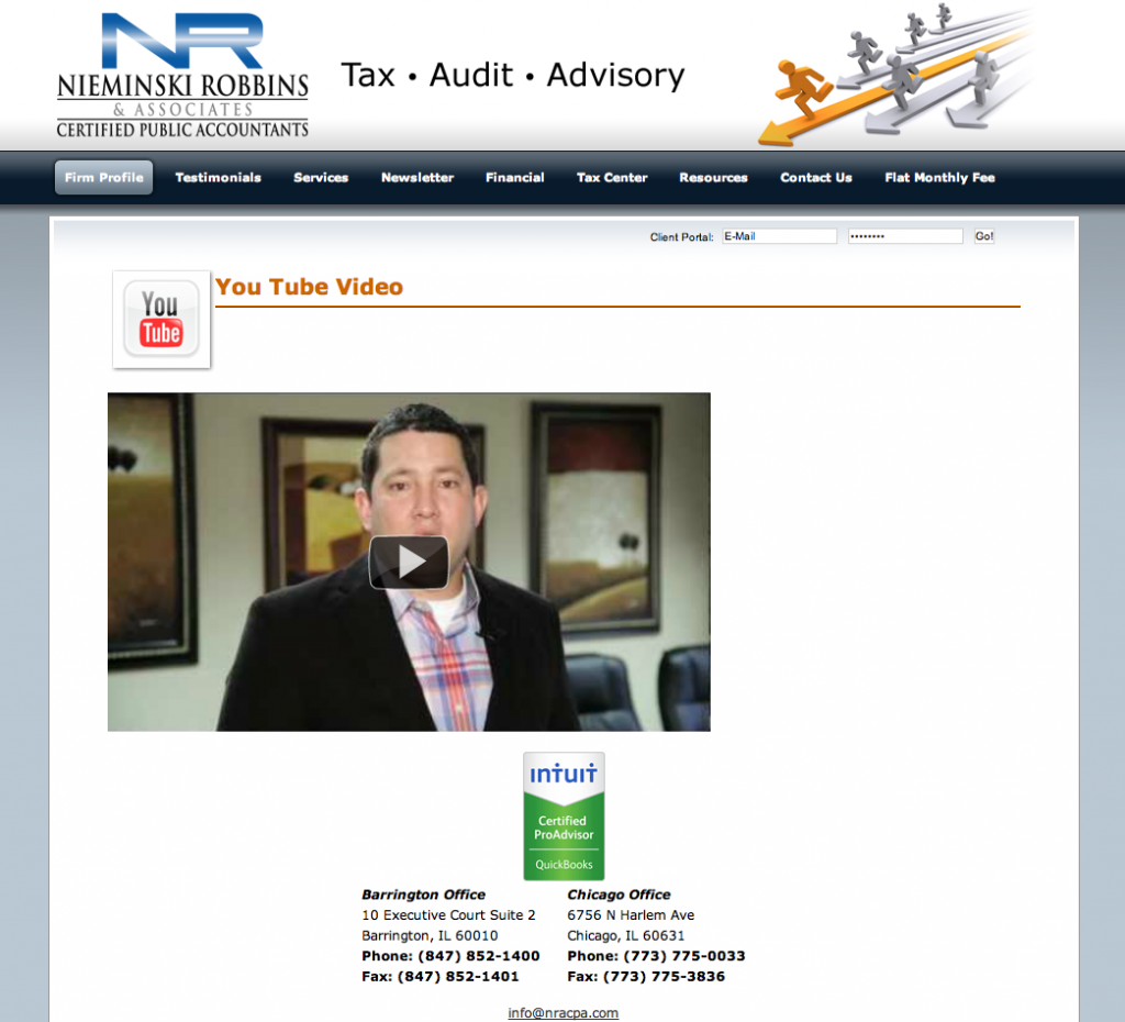 Nieminski Robbins and Associates Barrington Accountant YouTube Branding Video